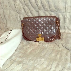 Marc Jacobs quilted leather baroque shoulder bag.